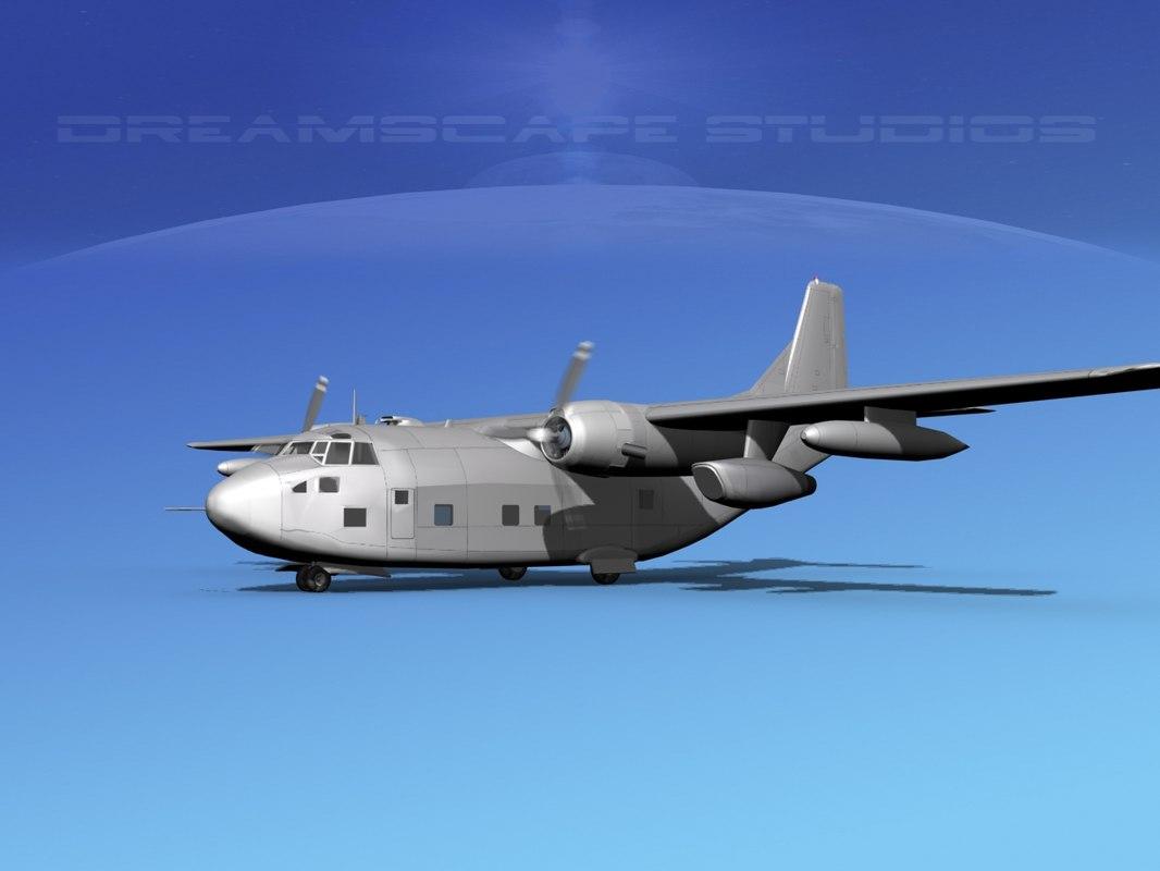 3D aircraft fairchild c-123