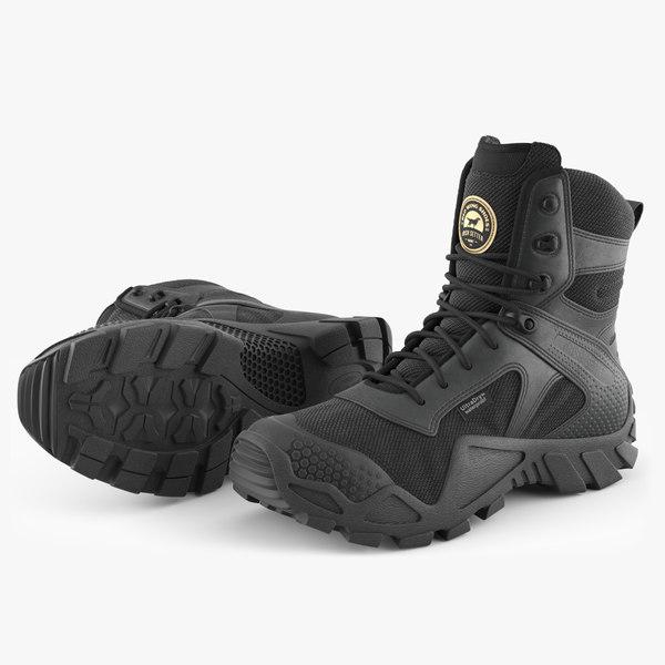 irish setter boots black 3D model