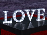 3D text letrero love model