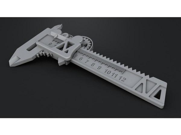 tool caliper steampunk geared 3D