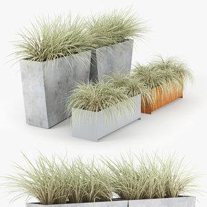 twista planter modern plant 3D model