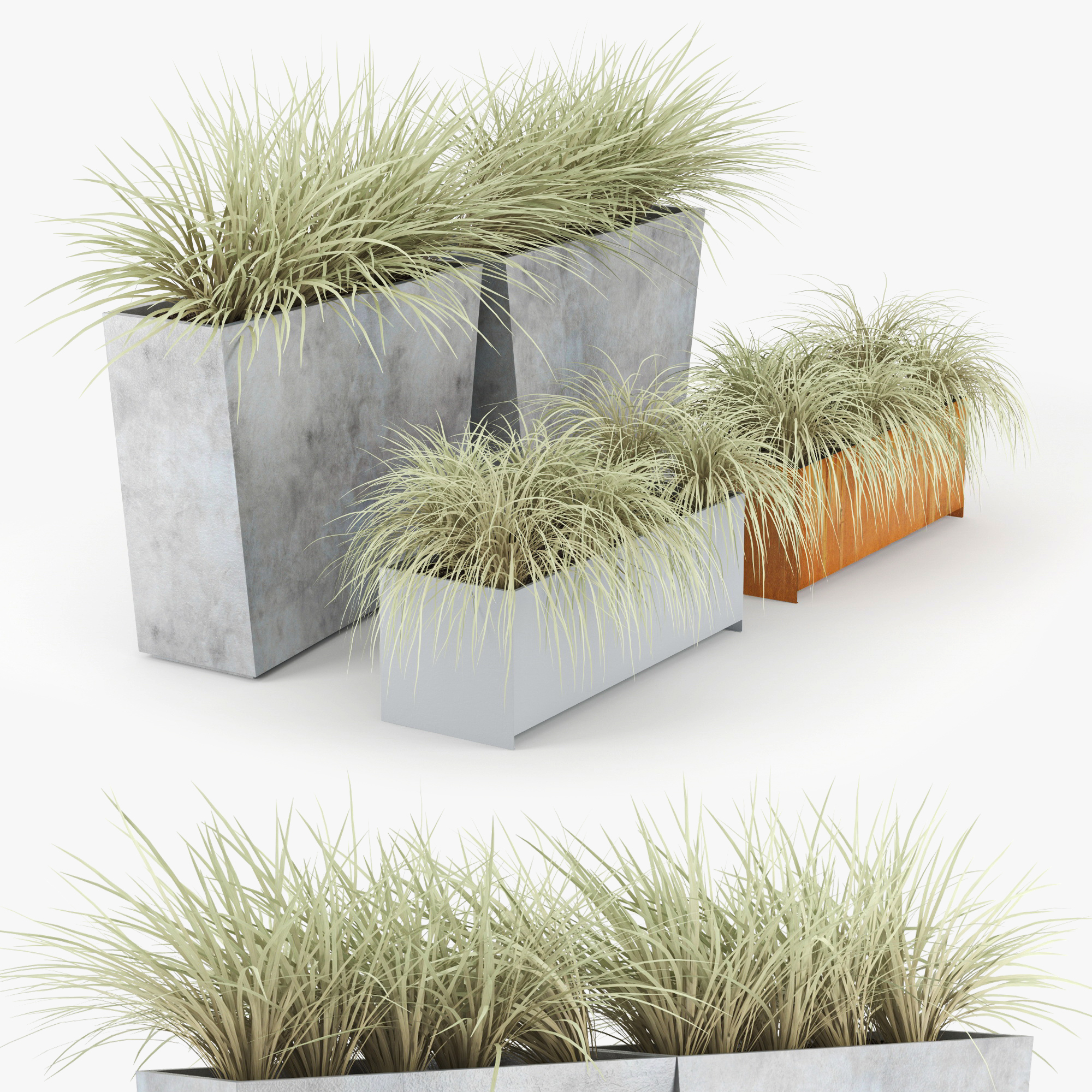 Twista Planter Modern Plant 3d Model Turbosquid 1307662