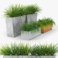 twista planter modern plant 3D