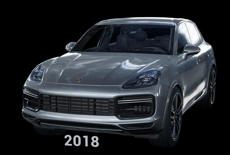 2018 porsche cayenne turbo 3D