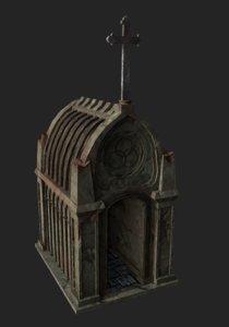 old stone mausoleum 3D model