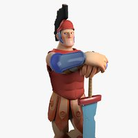 3D roman stylized character