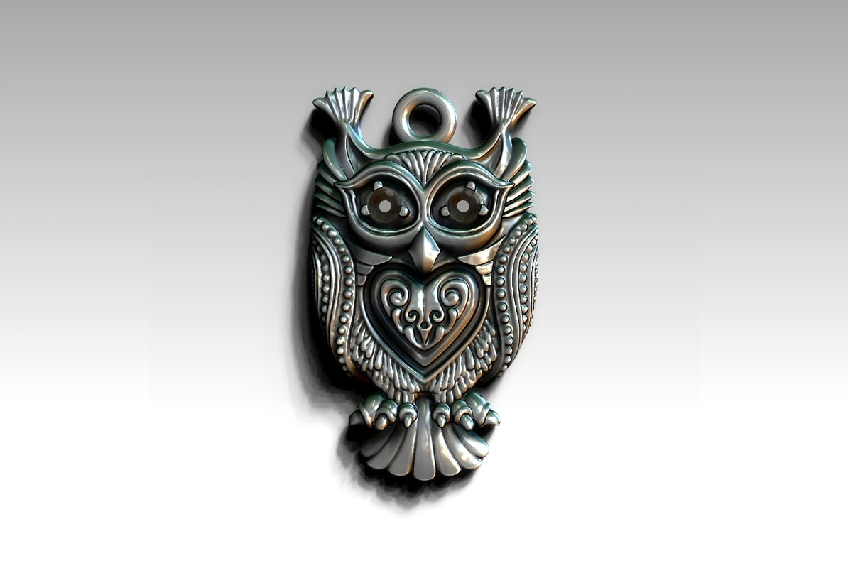 pendant owl 3D model