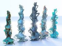 alien plants 3D model