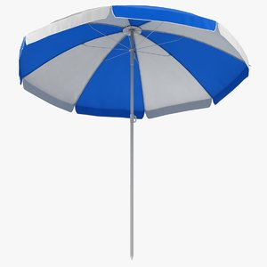 3D model beach umbrella