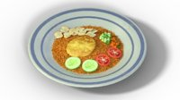 Rice Fried Indonesia food
