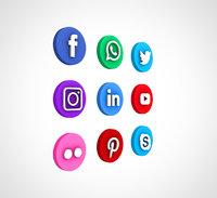 social media icon 01 3D
