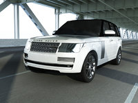 3D white range rover vogue