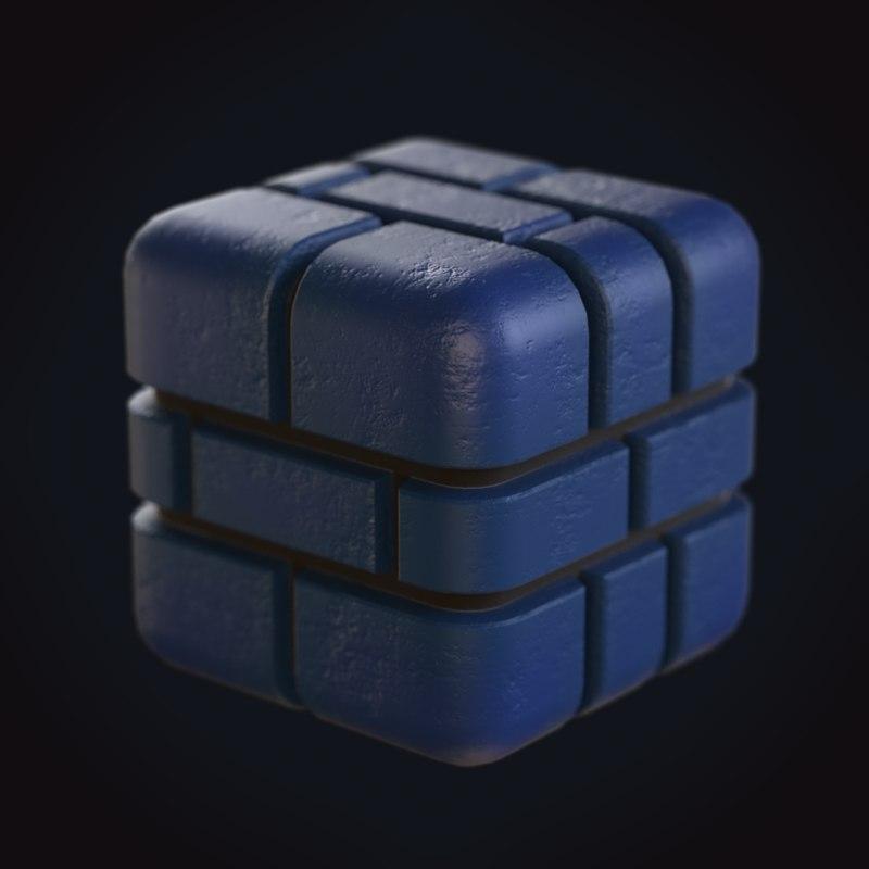 3D mario underground brick block model