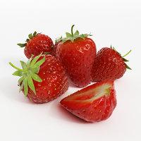 3D strawberries