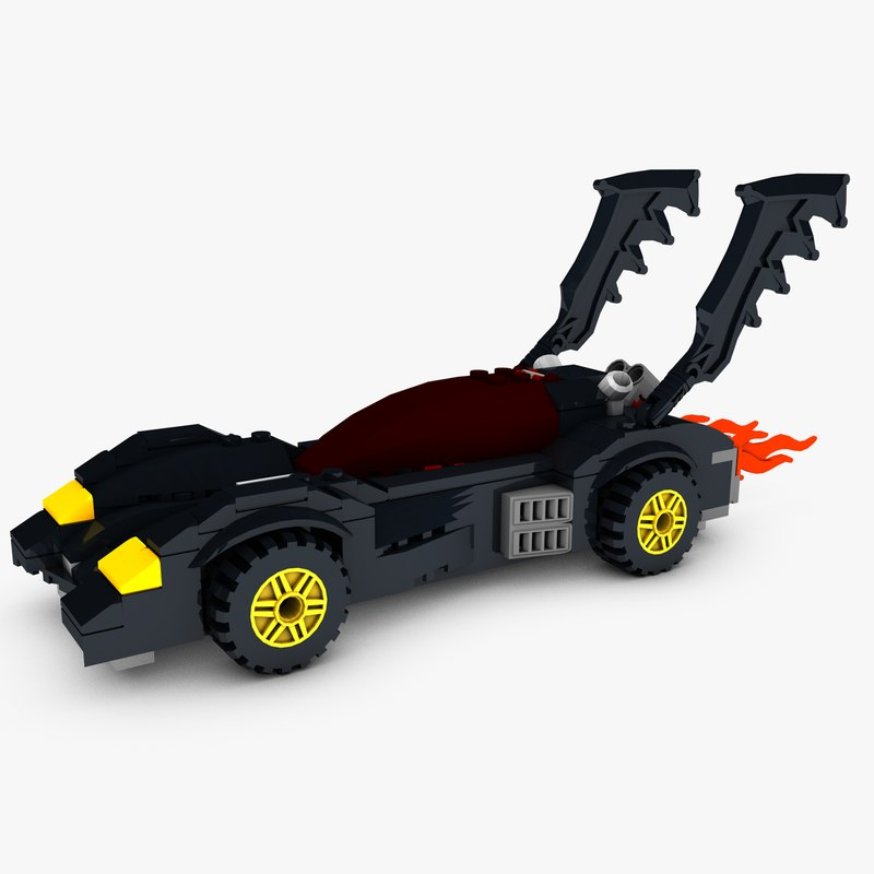 lego batmobile dark 3D model