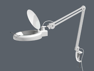 magnifying desk lamp 3D model