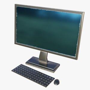 desktop computer - 3D