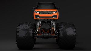 3D model monster truck range rover