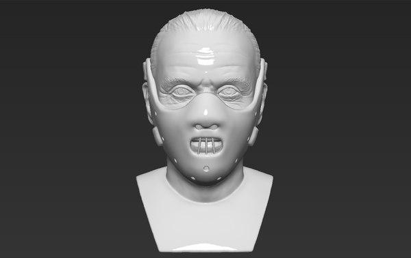hannibal lecter bust ready 3D model