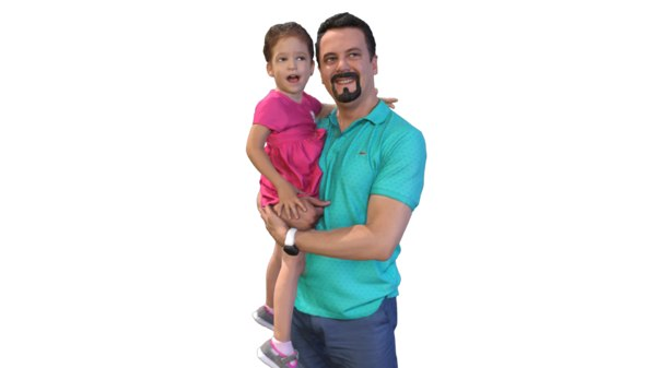 guy standing daughter model
