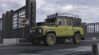 landrover rigged 3D model