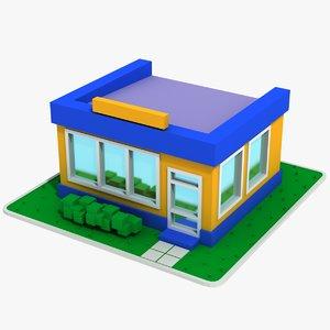 3D cartoon house 6 model