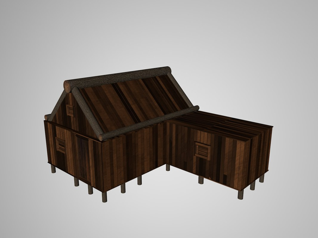 3D house medieval ages