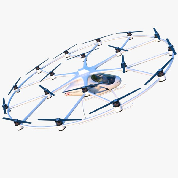 3D volocopter modeled