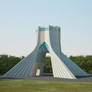 3D azadi tower