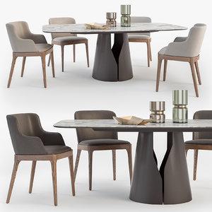 3D cattelan italia giano table