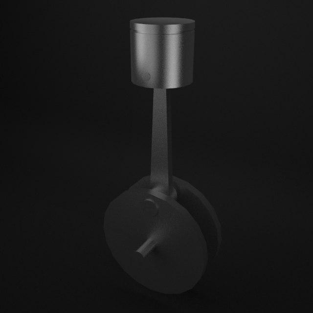 simple piston animation model