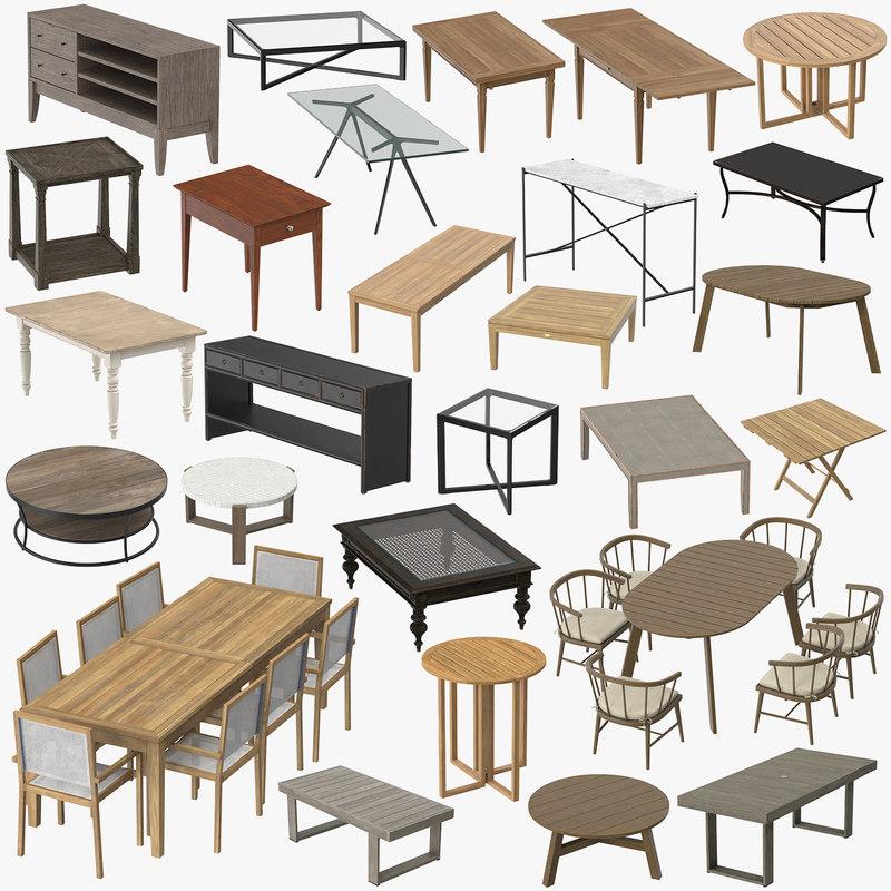 3D tables 01 model
