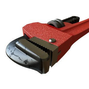 3D adjustable pipe wrench