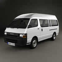3D model toyota h hiace