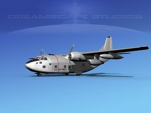 aircraft fairchild c-123 provider 3D model