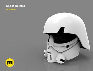 3D imperial cadets helmet printed model