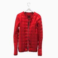 realistic jacket red hanger 3D model
