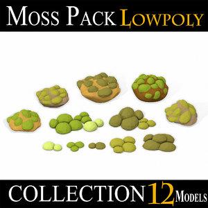moss pack 2 3D model