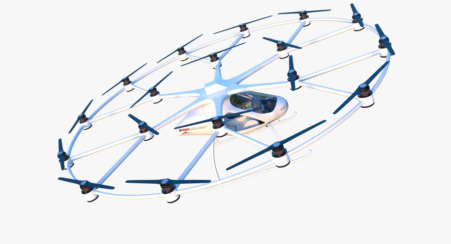 volocopter rigged 3D model