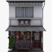 old barber shop store model