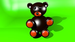 3D plush bear model