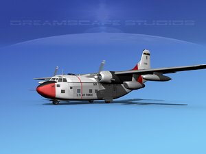 3D model aircraft fairchild c-123 provider