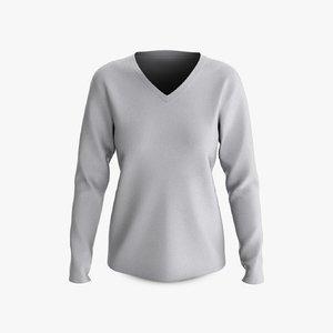 cotton female t-shirt dropped model