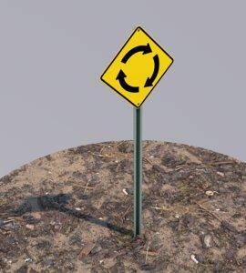 3D road sign