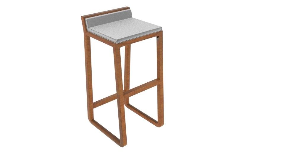 joe solid oak bar stool model