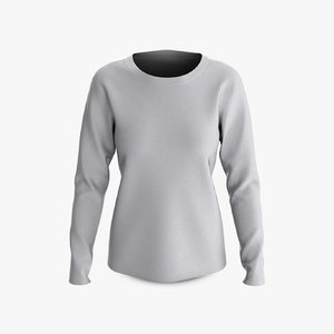 cotton female t-shirt dropped 3D