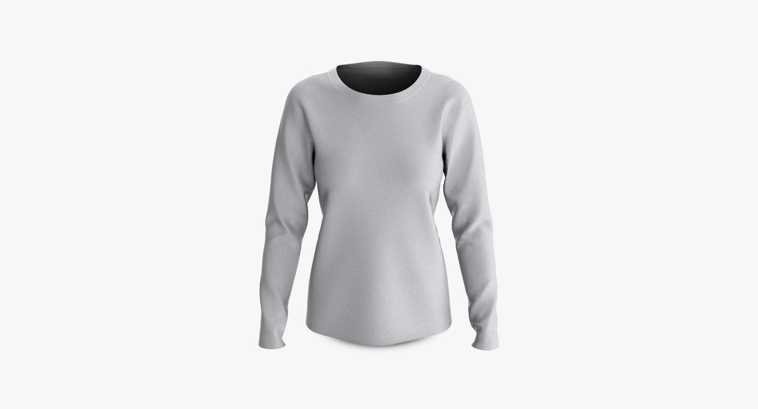 cotton female t-shirt dropped 3D