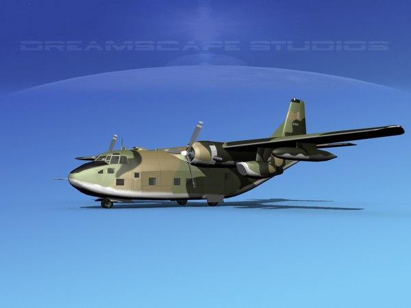aircraft fairchild c-123 provider 3D model