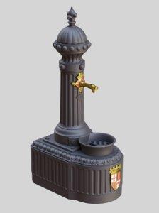 street fountain 3D model