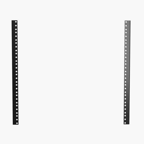 19-inch rack mount rails 3D model